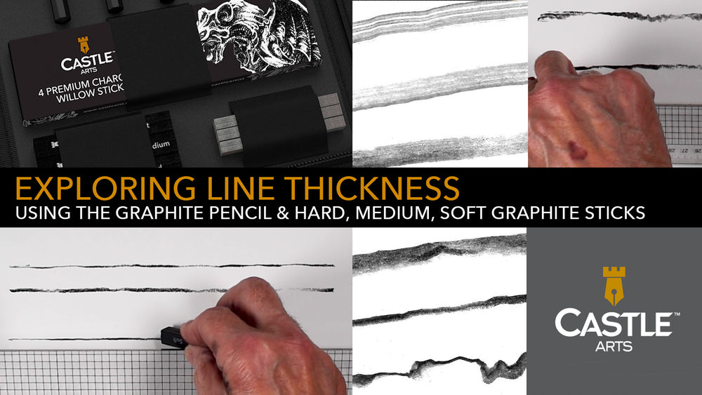 How to Draw Thick & Thin Lines with Graphite Pencils & Sticks