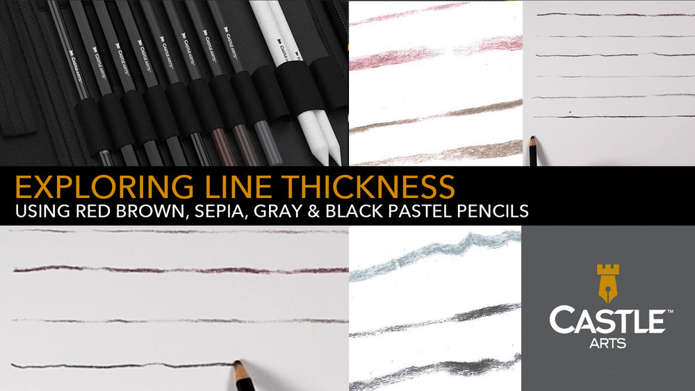 How to Draw Thick & Thin Lines with Pastel Pencils