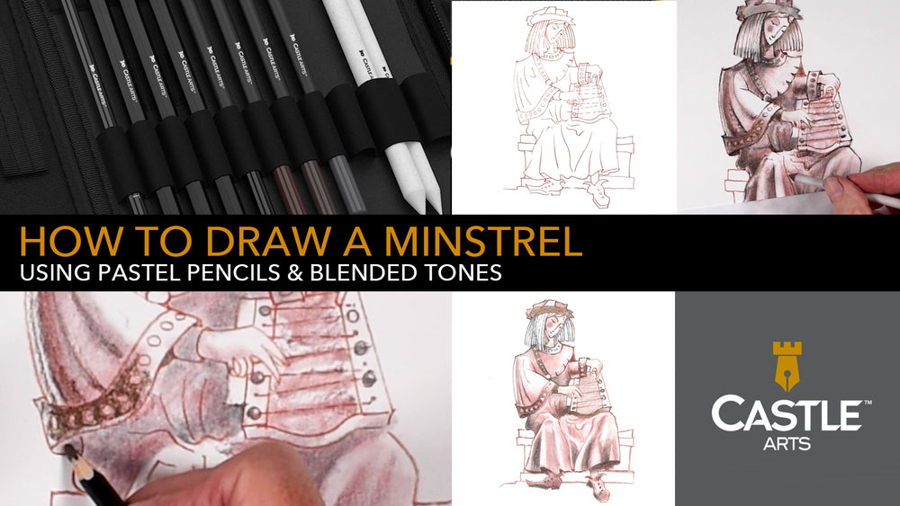 How to Draw with Pastel Pencils | Shading and Blending