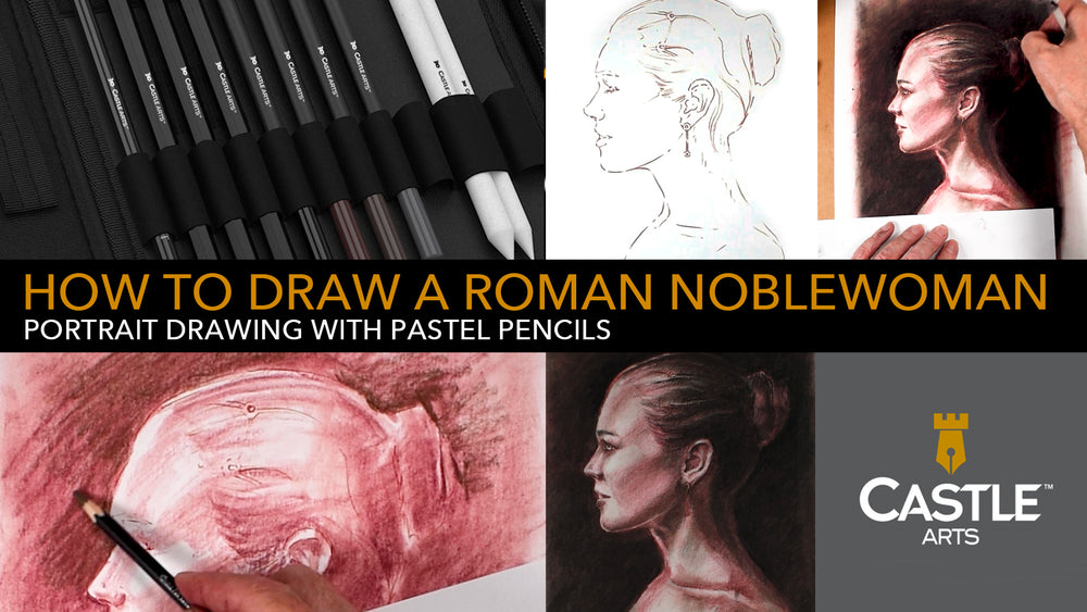 How to Draw a Roman Noblewoman Portrait with Pastel Pencils