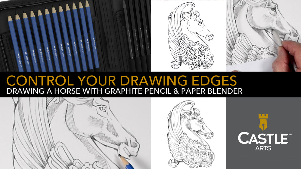 How to Draw | Control Drawing Edges With Graphite Pencils