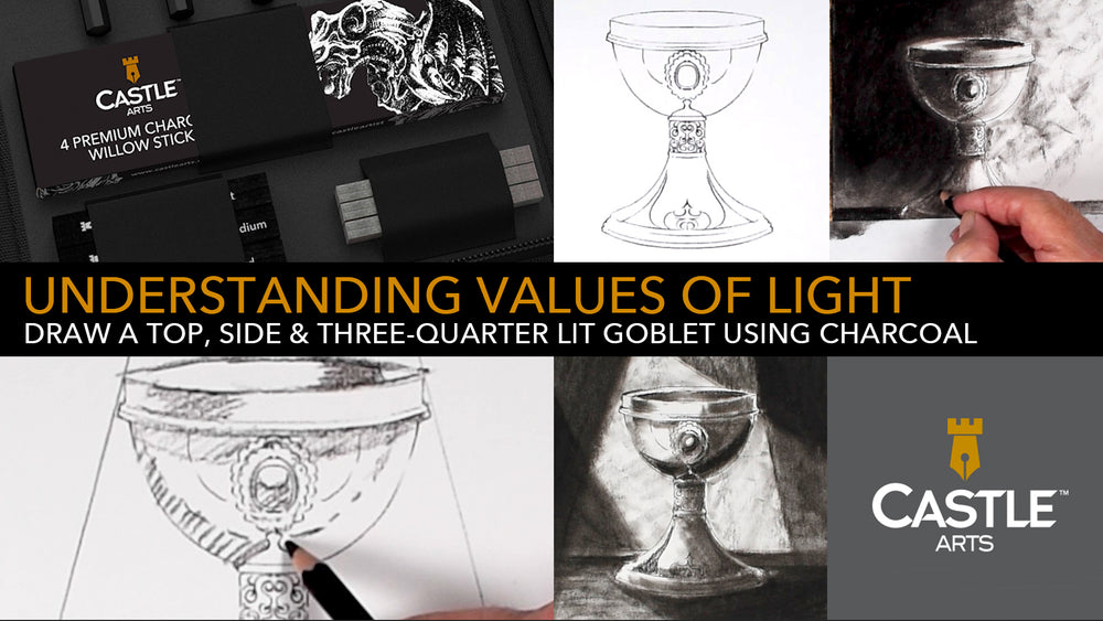 How to Draw | Shading Light & Shadow With Charcoal