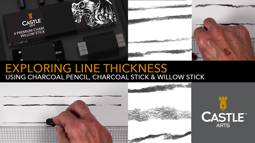 How to Draw Thick & Thin Lines with Charcoal Pencils & Sticks