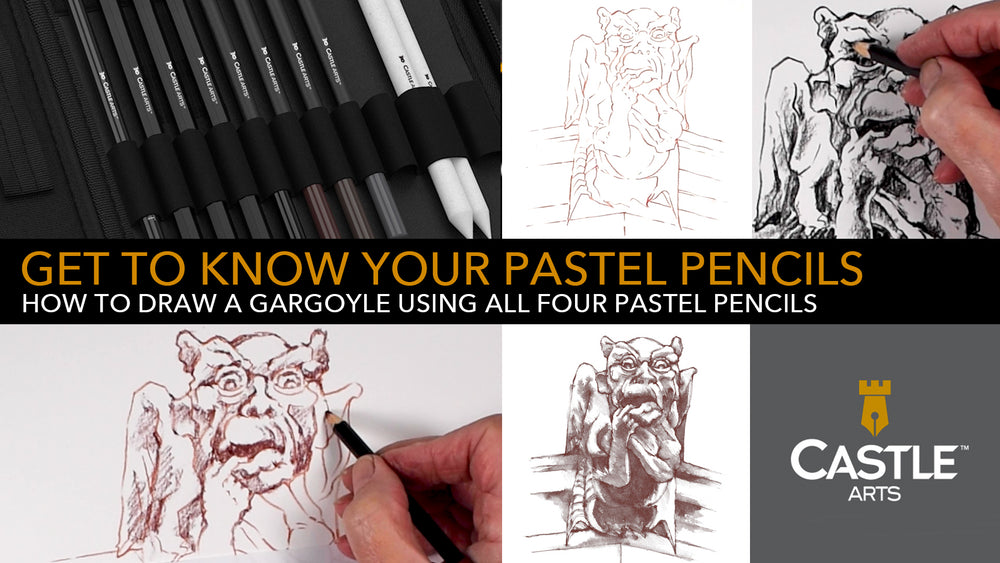 How to Draw a Gargoyle Using Pastel Pencils
