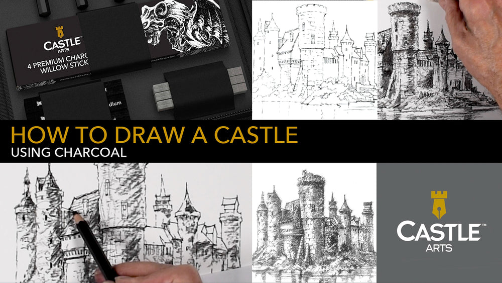 How to Draw a Castle Using Charcoal Sticks & Willow