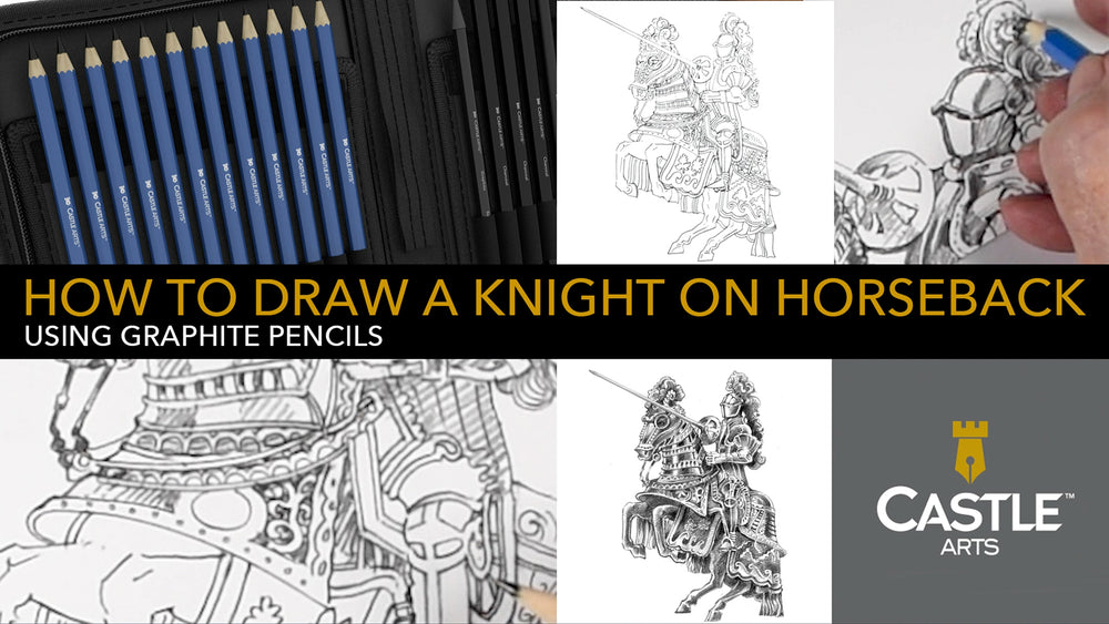 How to Draw a Knight on Horseback Using Graphite Pencils & Blenders