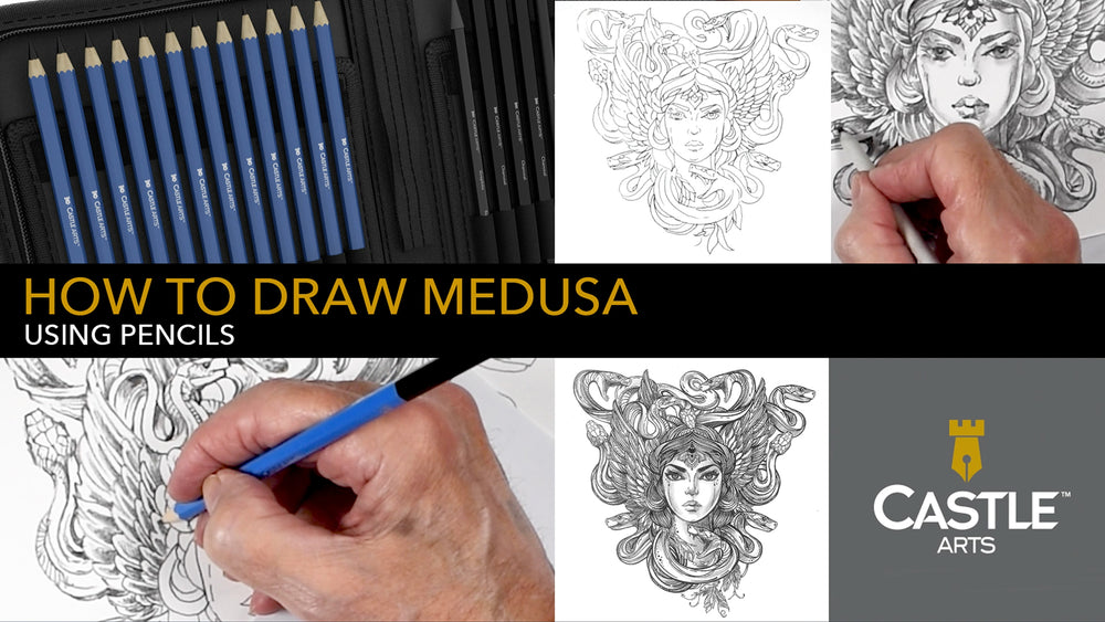 How to Draw Medusa Symmetrically Using Graphite Pencils
