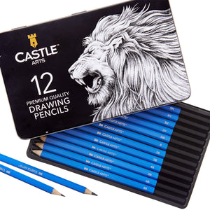 12 Piece Drawing and Sketching Pencil Set in Display Tin