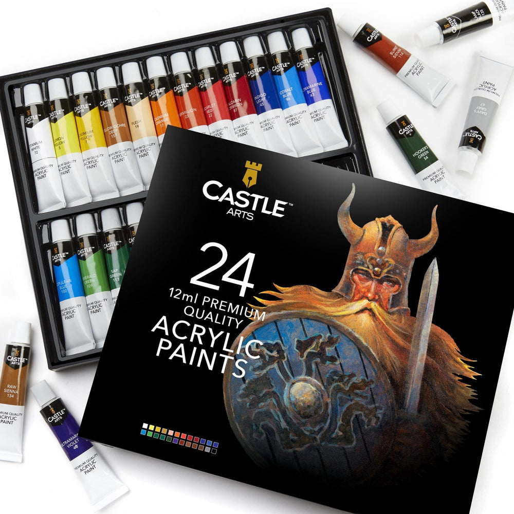 24 Piece Acrylic Paint Set