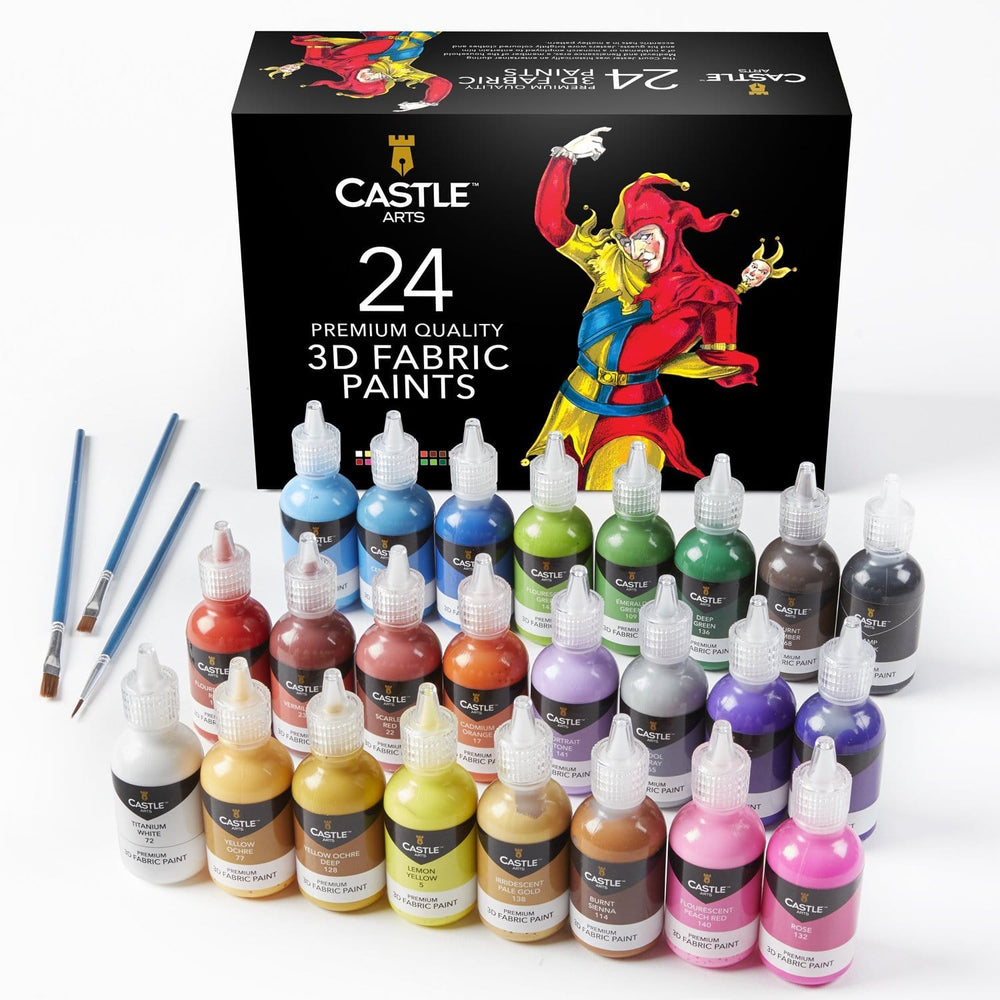 Load image into Gallery viewer, 24 Piece 3D Fabric Paint Set