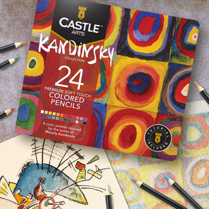 24 Piece Kandinsky Colored Pencil Set in Display Tin