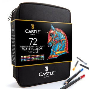 72 Piece Watercolor Pencil Set in Zip-Up Case