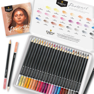 24 Piece Portrait Colored Pencil Set in Display Tin