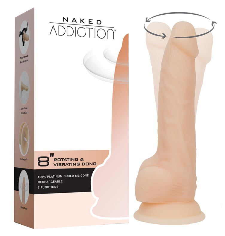 Naked Addiction - Rotating Vibrating Dong at Love Shop