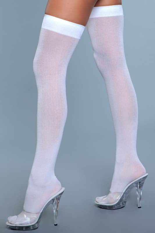 Opaque Nylon Thigh Highs
