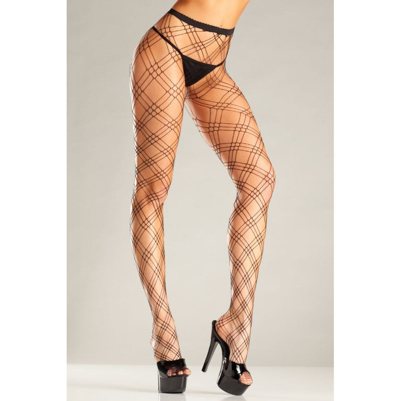 Lycra Triple Diamond Net Pantyhose