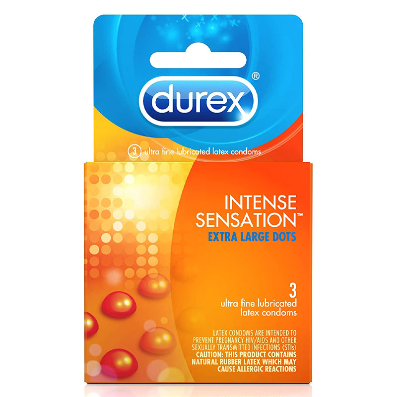Durex Intense Sensation Lubricated Condoms at Love Shop