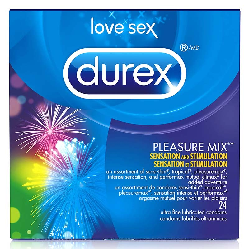 Durex Pleasure Mix Lubricated Condoms at Love Shop