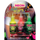 Neon Body Paints 3 Card
