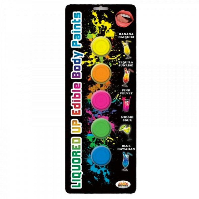 Liquored Up Edible Body Paints 5 Assorted Flavors 50 Ml