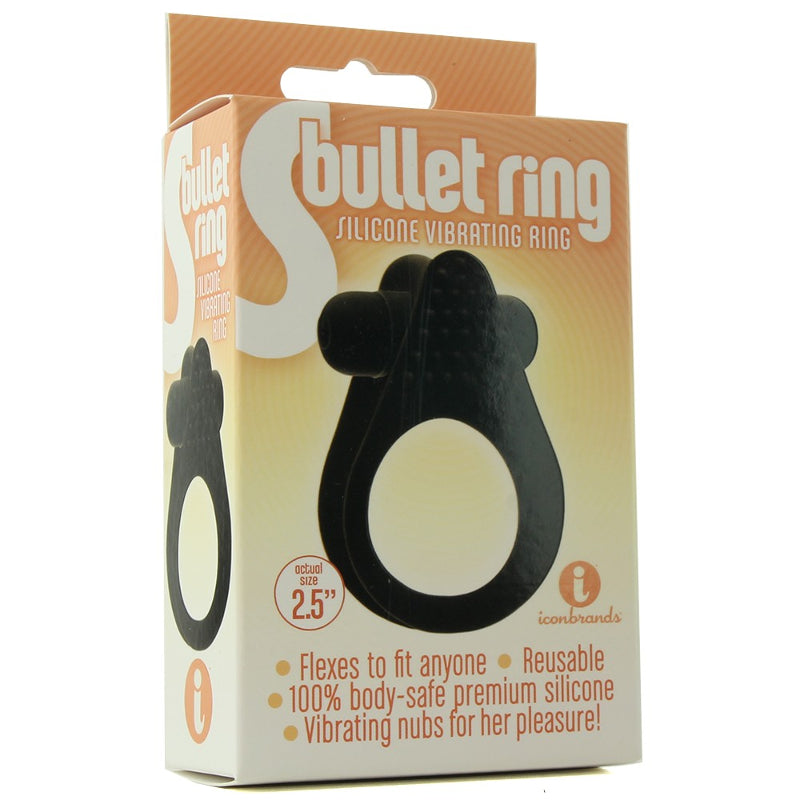 The 9's, S Bullet Ring, Silicone, Black at Love Shop