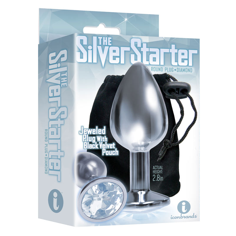 The 9's, The Silver Starter, Bejeweled Stainless Steel Plug at Love Shop