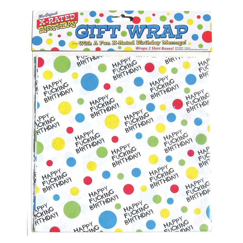X-Rated Birthday Gift Wrap Paper Party Item at Love Shop