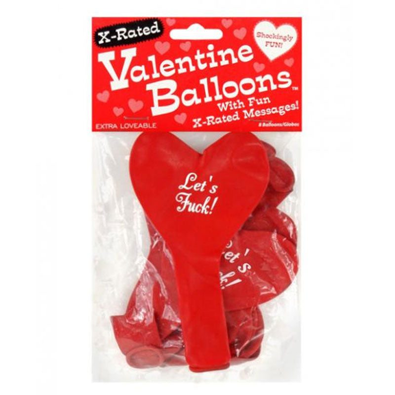 "X-Rated Heart Balloons 11"" Latex Party Item at Love Shop"
