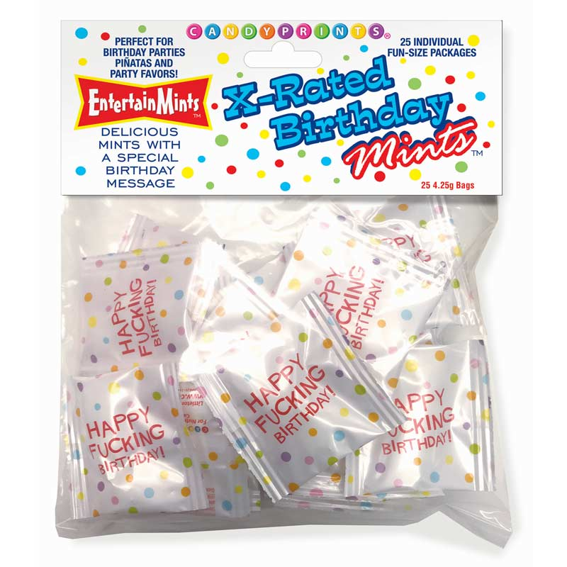 X-Rated Birthday Mints Candy Pack at Love Shop