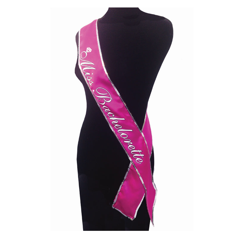 Little Genies Miss Bachelorette Hot Pink Sash at Love Shop