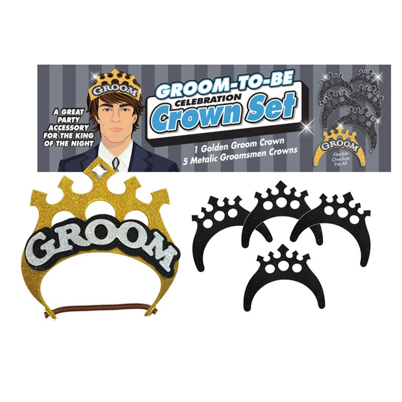 Little Genies Groom Crown Set Bachelorette & Bachelor Item at Love Shop