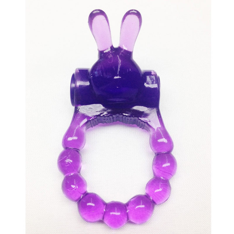 MJM Vibrating Bunny Ring Purple at Love Shop