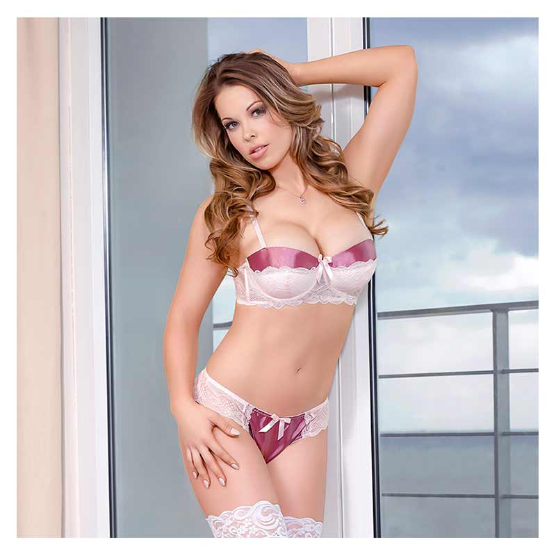 Ever After Bra & Split Crotch Panty Set
