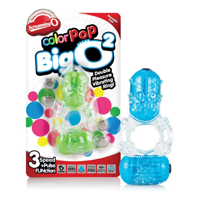 ColorPoP Big O 2 (Assorted Colours - blue or green) Cock Ring