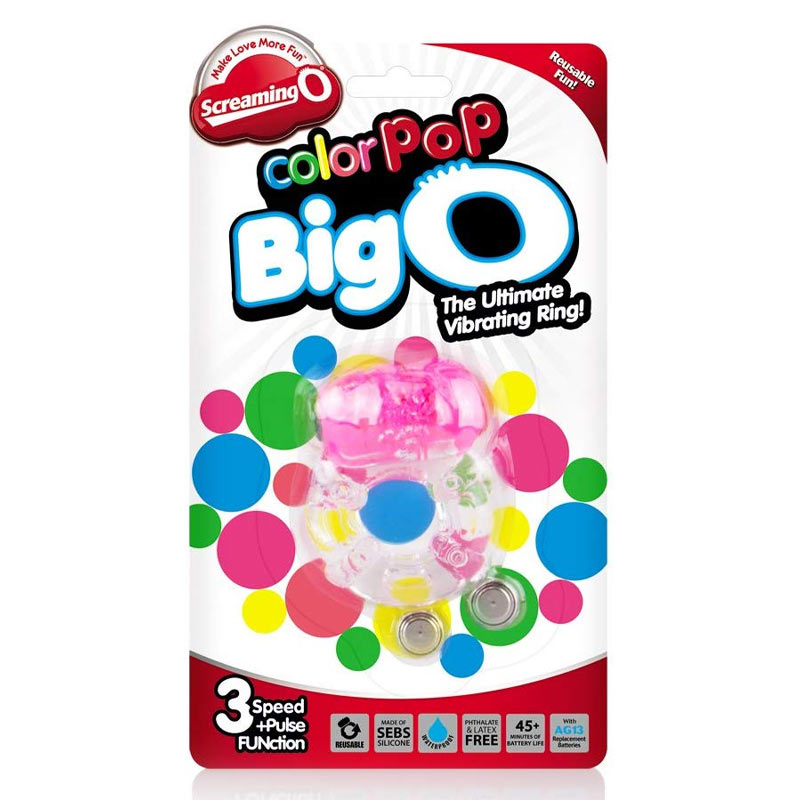 ColorPoP Big O (Assorted Colours - pink or green) Cock Ring