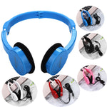 Wire Headphones On Ear Foldable Stereo Headset Wired Gaming Headset Talk Mp3