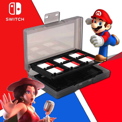 Nintend Switch Accessories 24 in 1 Game Memory Card Micro SD Case Holder