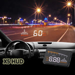 Car HUD OBD II Head-Up Display Overspeed Warning System Auto Electronic Voltage Alarm