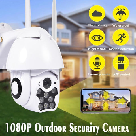 HD 1080P 8LED PTZ Control IP Camera Mini WIFI Outdoor Home Security