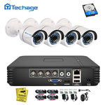 4CH 1080N AHD DVR Kit 720P CCTV System 1MP Camera Video Home Security Surveillance Set