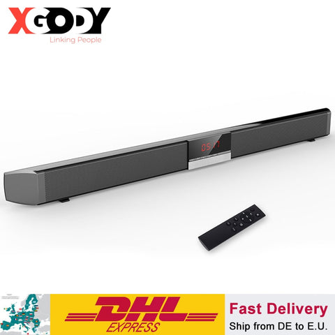 Soundbar TV Home Theater SR100 Bluetooth Speaker 2.0 Channel Wireless PC Support Remote Control 3.5mm AUX TF USB