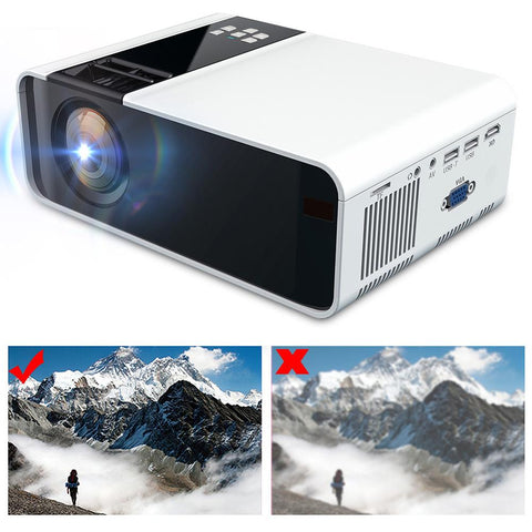 Portable cinema Ultra-HD LED Projector 1080P 110-240V sinema sistemi HDMI home theater sound system 480P Same Screen Version