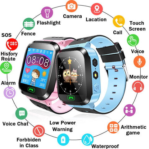 Y21 Touch Screen Kids GPS Watch with Camera Lighting
