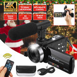 Professional 30MP 4K HD Camcorder Video Camera Night Vision 3.0 Inch LCD 18X