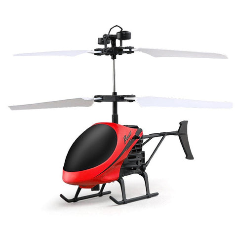 Flying Mini RC Infrared Induction Helicopter Flashing Light Drone