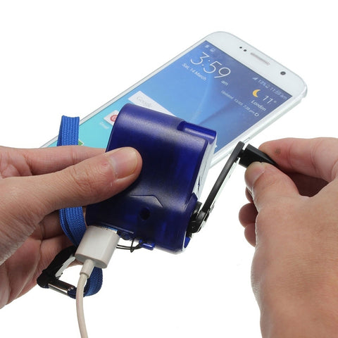 Portable Mini Size Hand Power Crank USB Cell Phone Emergency Charger