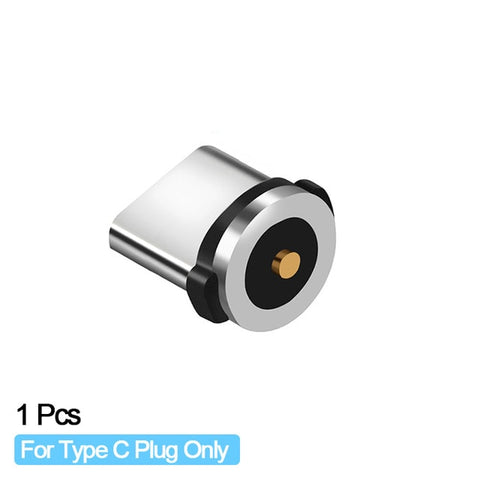 Round Magnetic Cable plug 8 Pin Type Micro USB C Plugs Magnet Charger Plug For iPhone