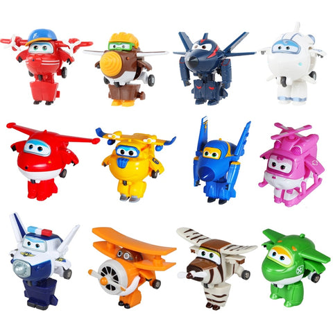 12 style Mini Super Wings Deformation Mini JET ABS Robot toy