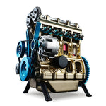 New Arrival Teching 1:24 Four-Cylinder Engine Full Aluminium Alloy Model