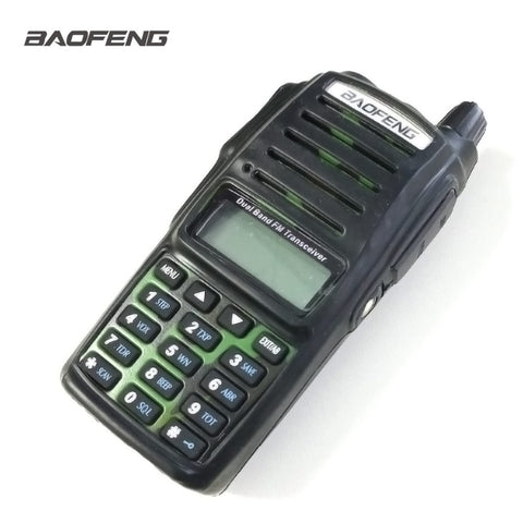 UV-82 Rubber Case Walkie Talkie Black Dustproof Wear Resistant Black
